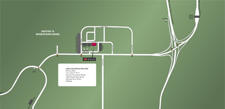 head office location map